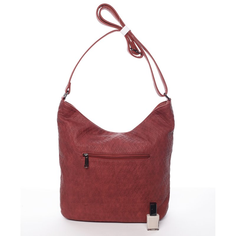 Vínově červená dámská crossbody kabelka Belinda