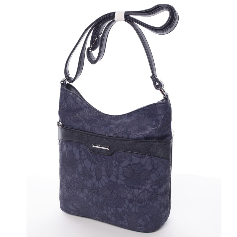 Květinová dámská crossbody kabelka Bianca, modrá