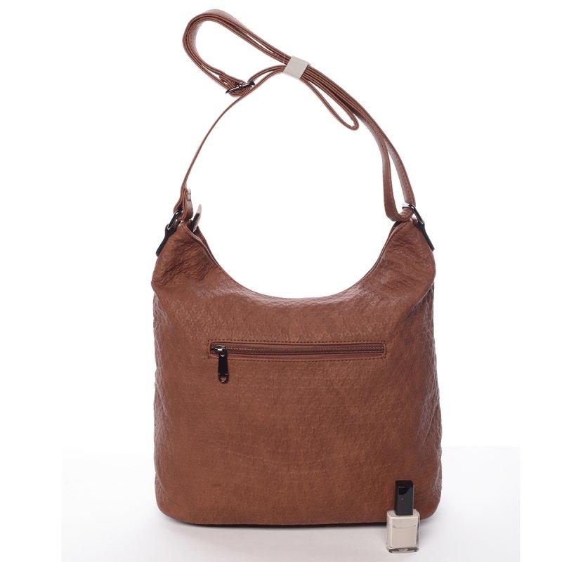 Originální dámská kabelka přes rameno Jessica, hnědá