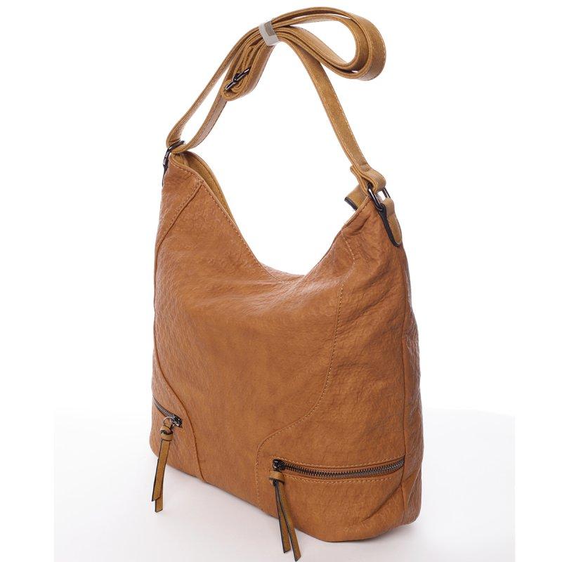 Originální dámská kabelka přes rameno Jessica, světle hnědá