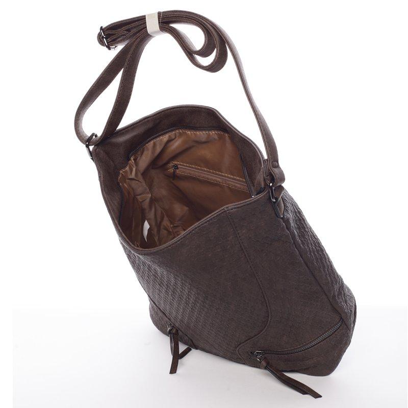 Originální dámská kabelka přes rameno Jessica, tmavě hnědá
