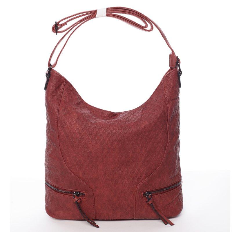 Originální dámská kabelka přes rameno Jessica, vínově červená
