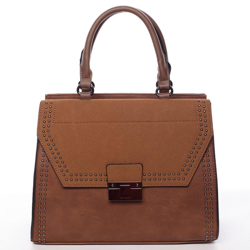 Vysoce elegantní kabelka Franceska, hnědá