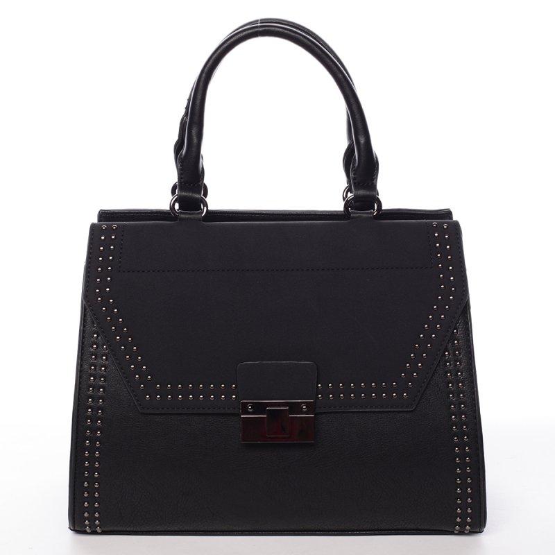 Vysoce elegantní kabelka Franceska, černá