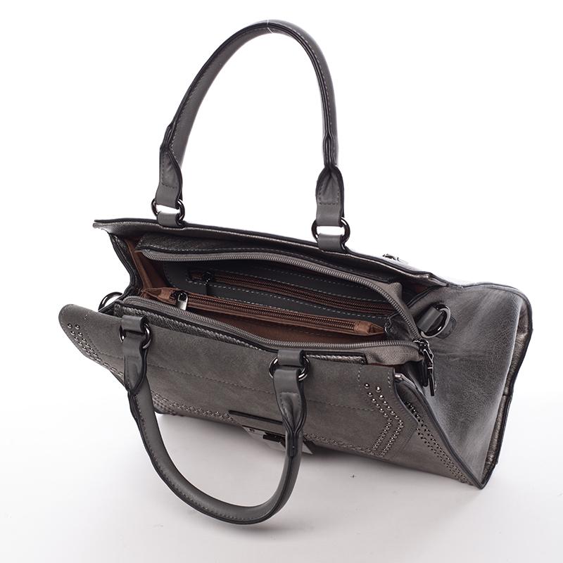 Vysoce elegantní kabelka Franceska, šedá
