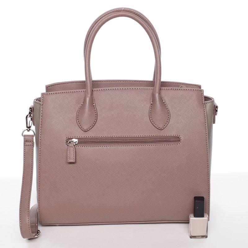 Elegantní dámská kabelka do ruky Vanessa, starorůžová