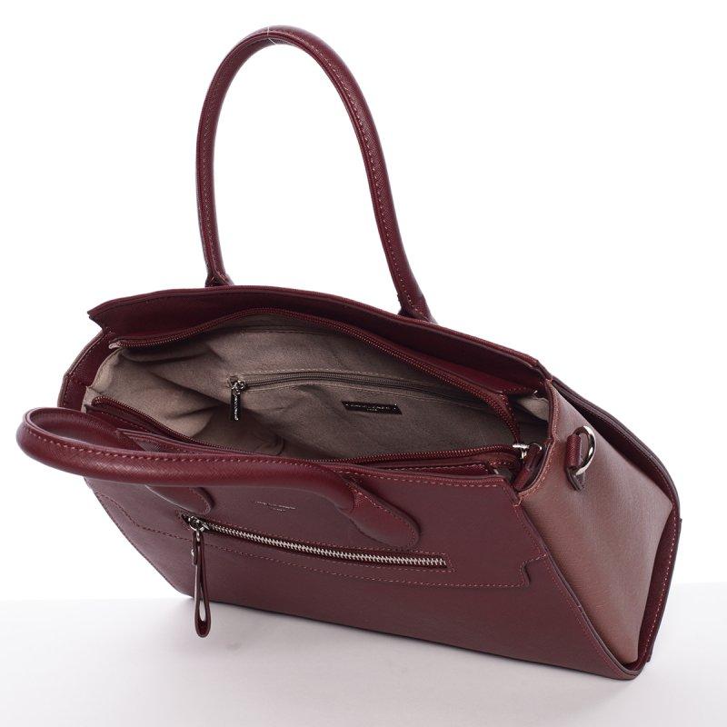 Elegantní dámská kabelka do ruky Vanessa, vínově červená