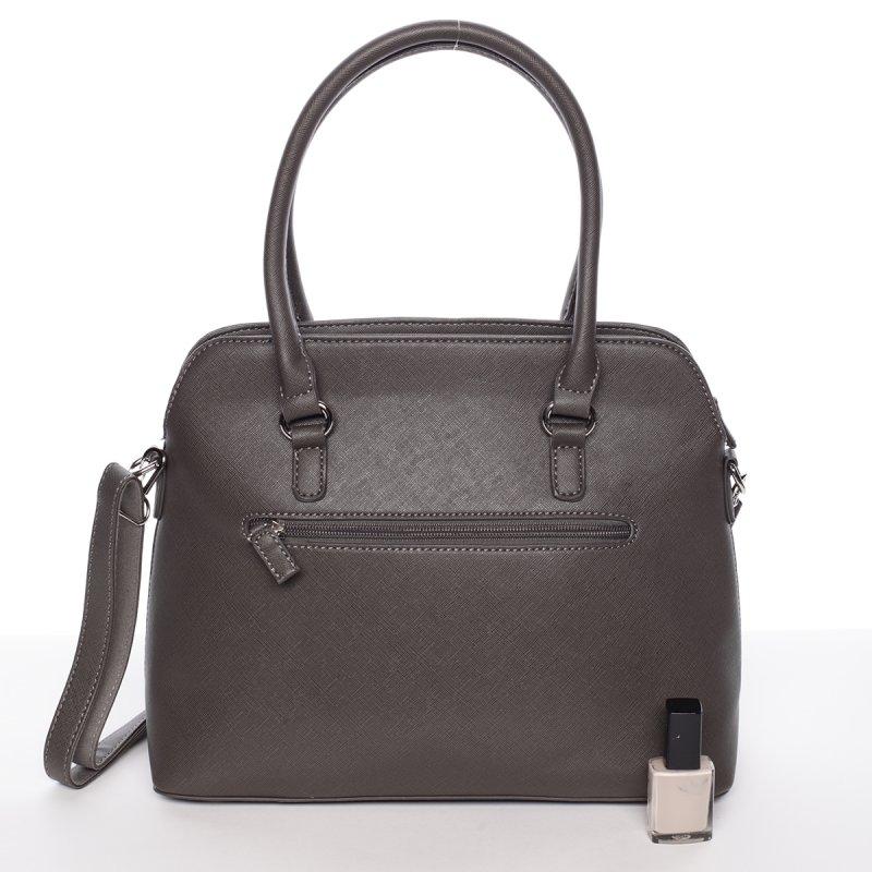 Luxusně prošívaná dámská kabelka Noemi, šedá