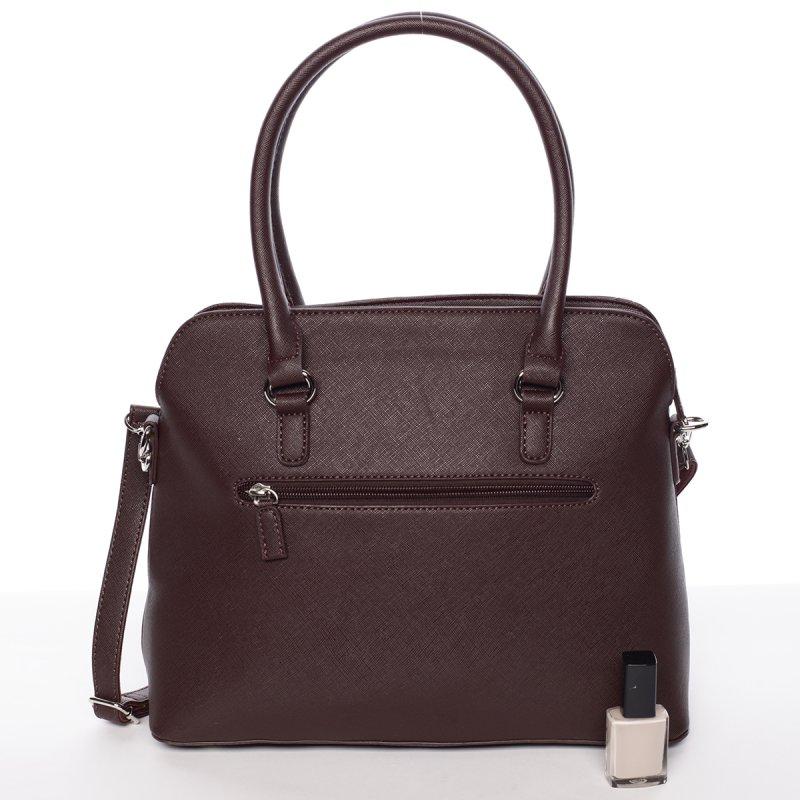 Luxusně prošívaná dámská kabelka Noemi, vínově červená
