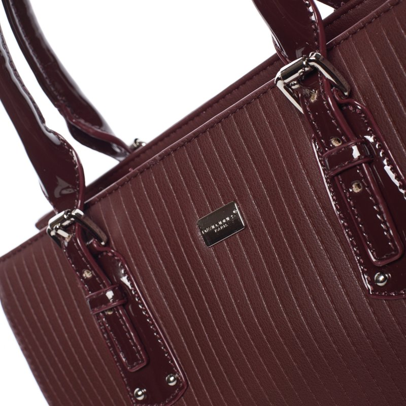 Nadčasová dámská kabelka Stefanie, vínově červená