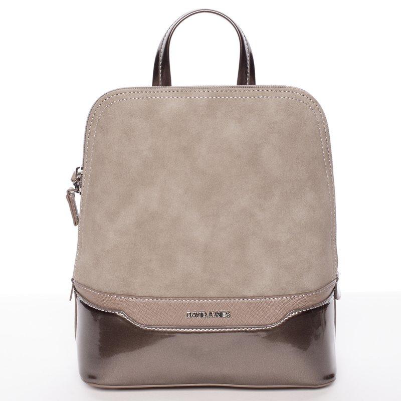 18fa5a038 Semišový městský dámský batoh David Jones, zlatý/hnědý