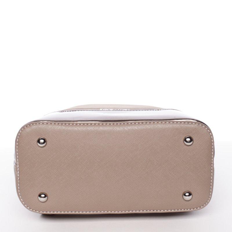 Semišový městský dámský batoh David Jones, zlatý/hnědý