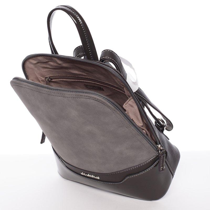 Semišový městský dámský batoh David Jones, šedý