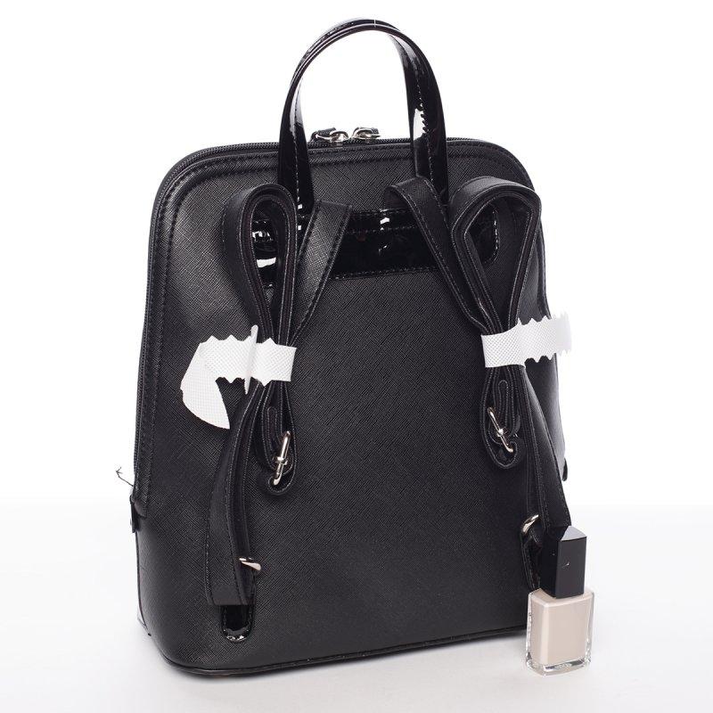 Semišový městský dámský batoh David Jones, černý