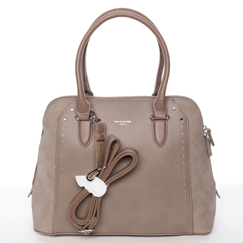Propracovaná dámská kabelka přes rameno Edyta, krémová