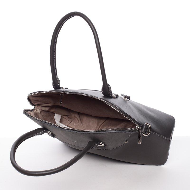 Šedá pevná dámská kabelka Stefania