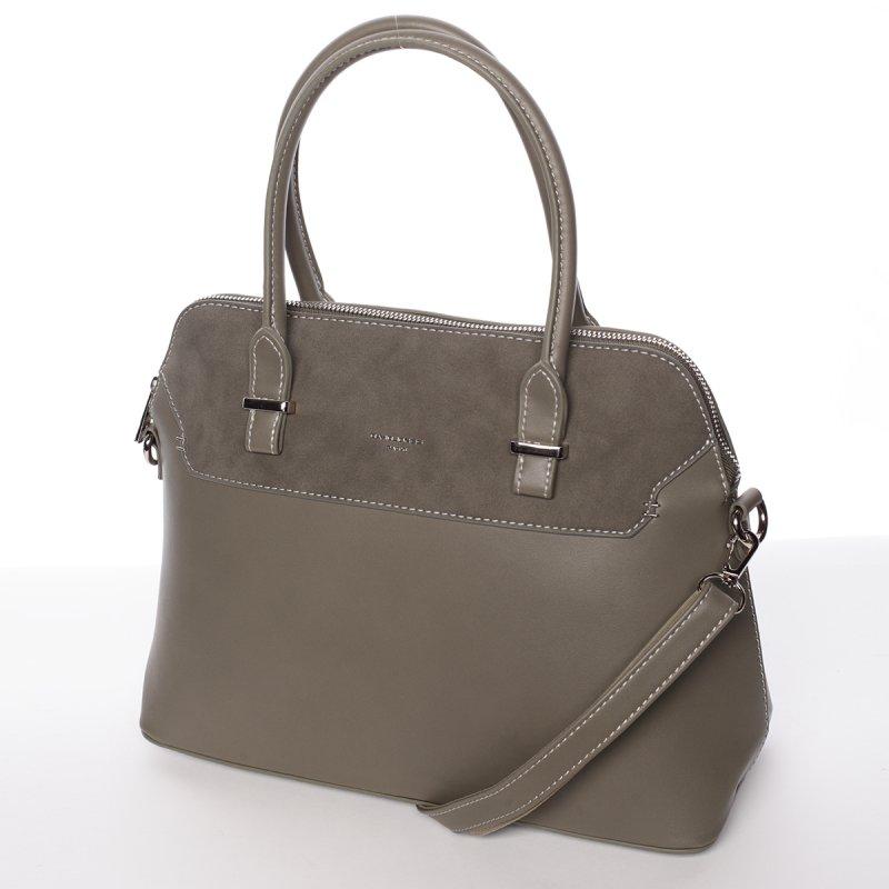 Zelená pevná dámská kabelka Stefania