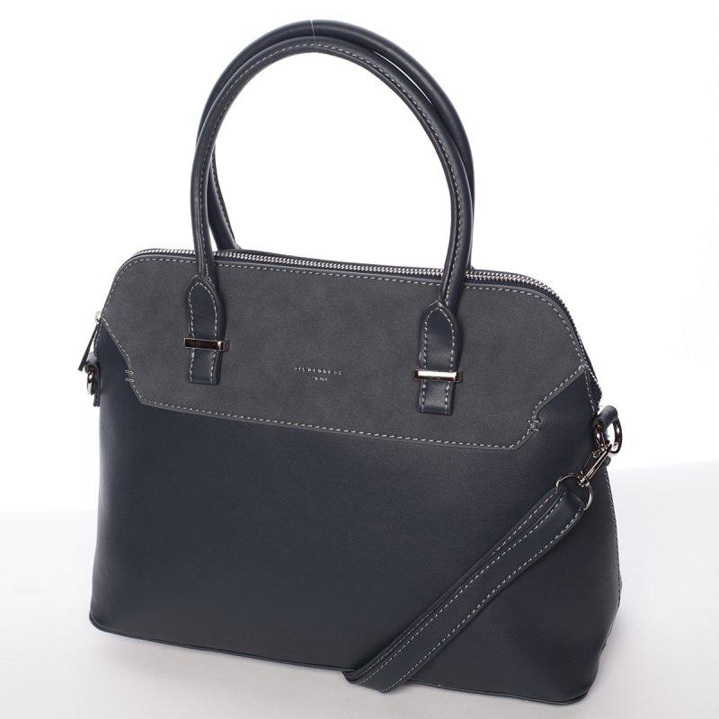 Modrá pevná dámská kabelka Stefania