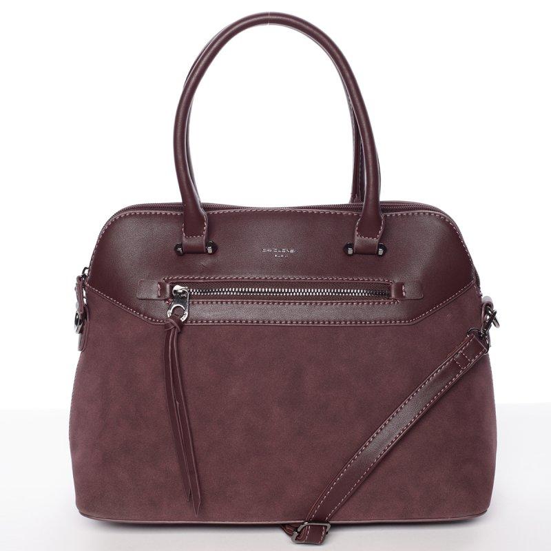 Stylová dámská kabelka Violeta, vínově červená