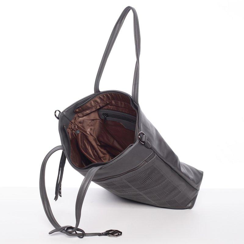 Atraktivní dámská kabelka Adriana, šedá