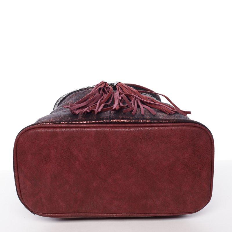 Netradiční dámský batoh Daria, vínově červený