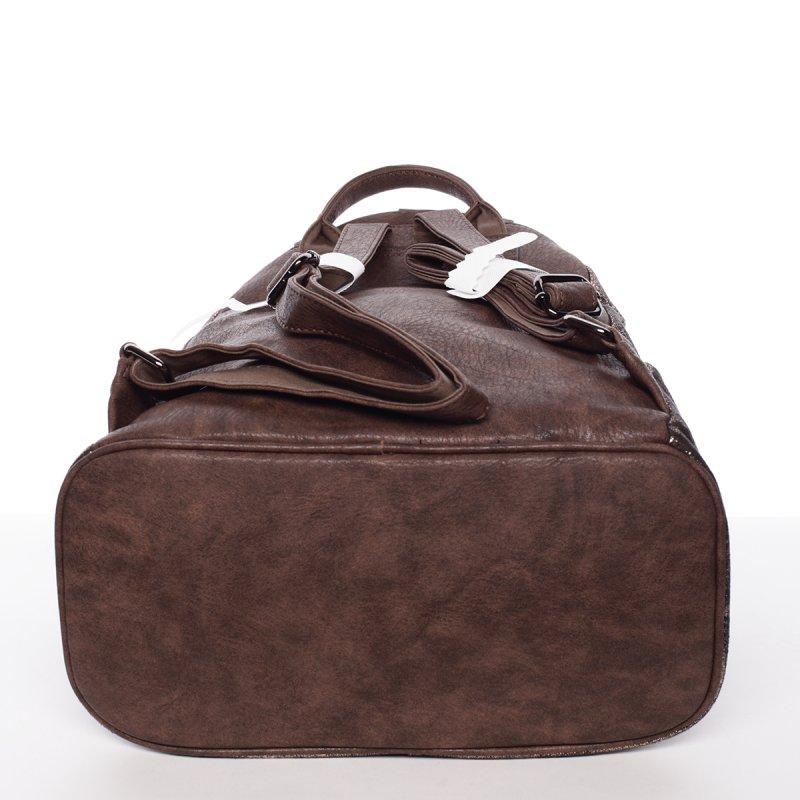 Netradiční dámský batoh Daria, hnědý