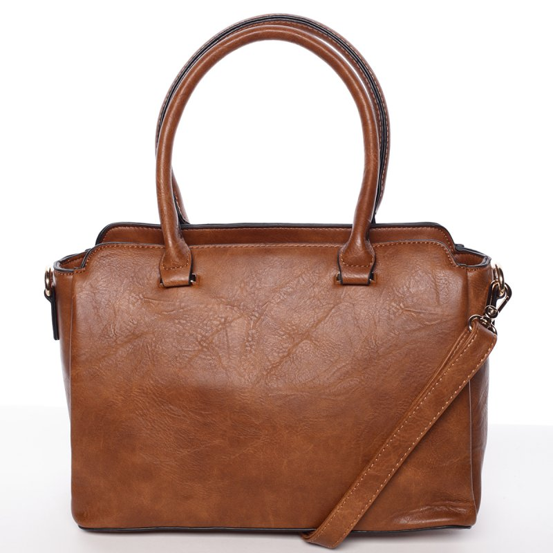 Atraktivní kvalitní dámská kabelka Bianka, hnědá