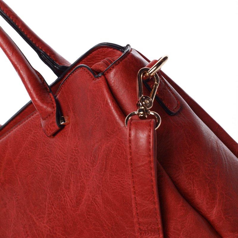 Atraktivní kvalitní dámská kabelka Bianka, červená