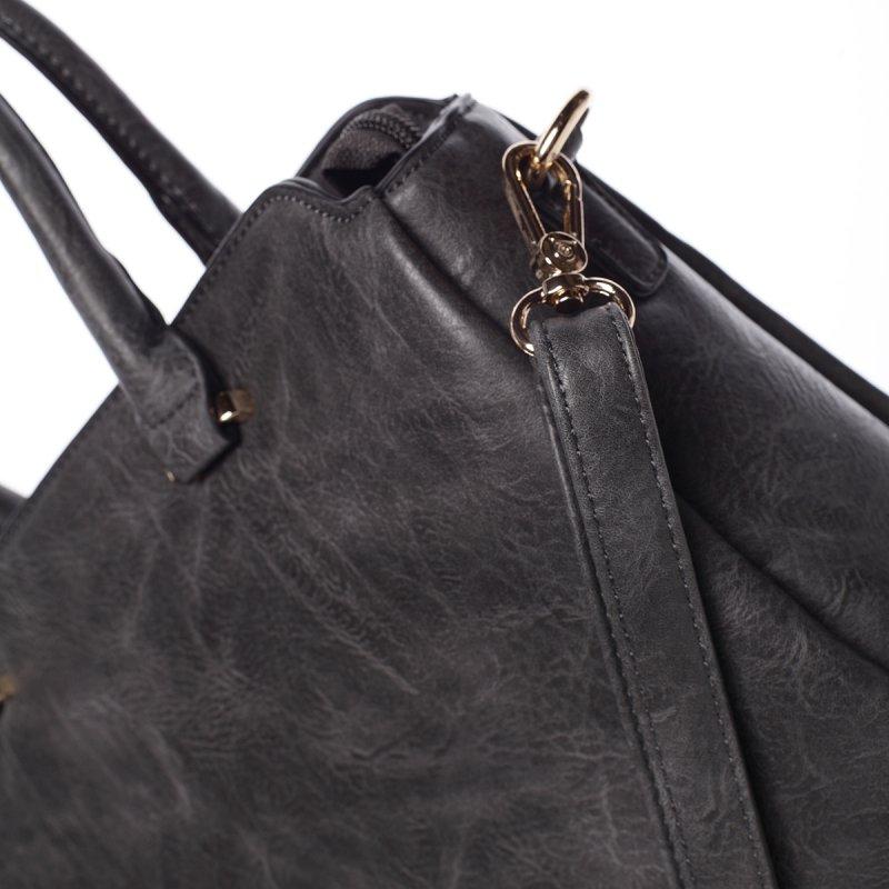 Atraktivní kvalitní dámská kabelka Bianka, šedá