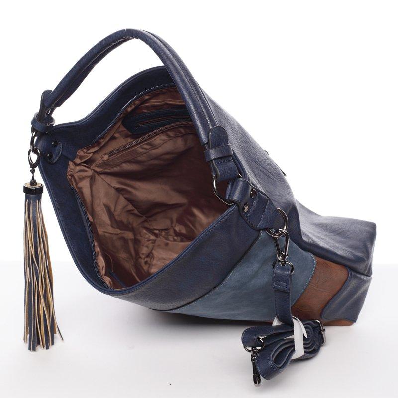Dámská luxusní kabelka Valerie, modrá