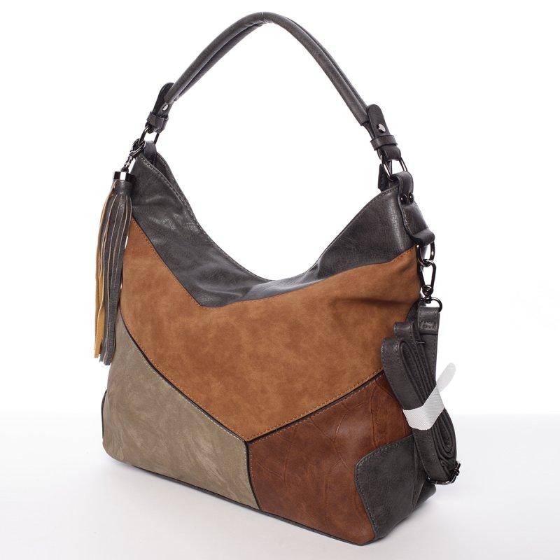 Dámská luxusní kabelka Valerie, šedá