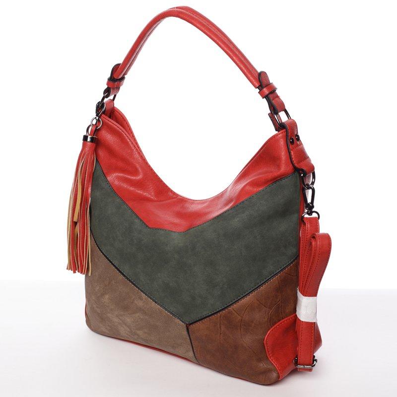Dámská luxusní kabelka Valerie, červená