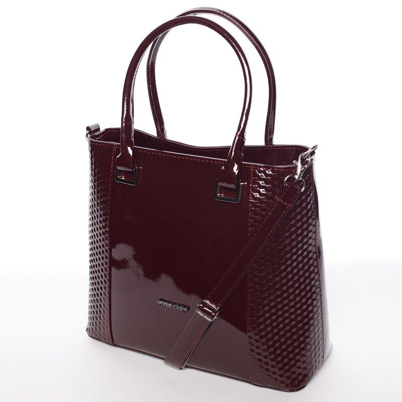 Vínově červená elegantní dámská kabelka Larisa