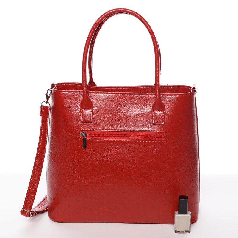Červená elegantní dámská kabelka Larisa