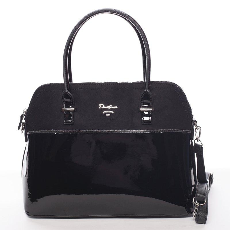 Lesklá dámská kabelka do ruky Sofie, černá