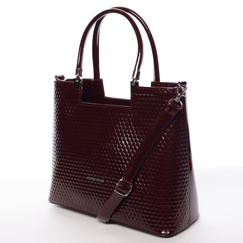 Trendy dámská kabelka Iness, vínově červená