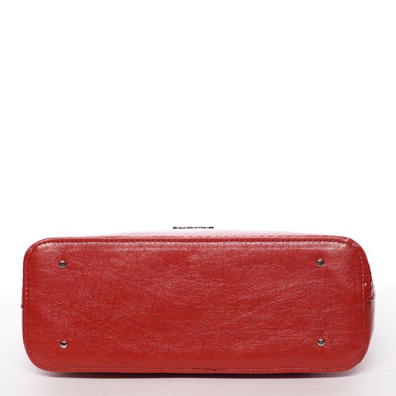 Trendy dámská kabelka Iness, červená