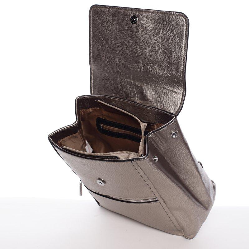 Stříbrný elegantní dámský batoh Valerie