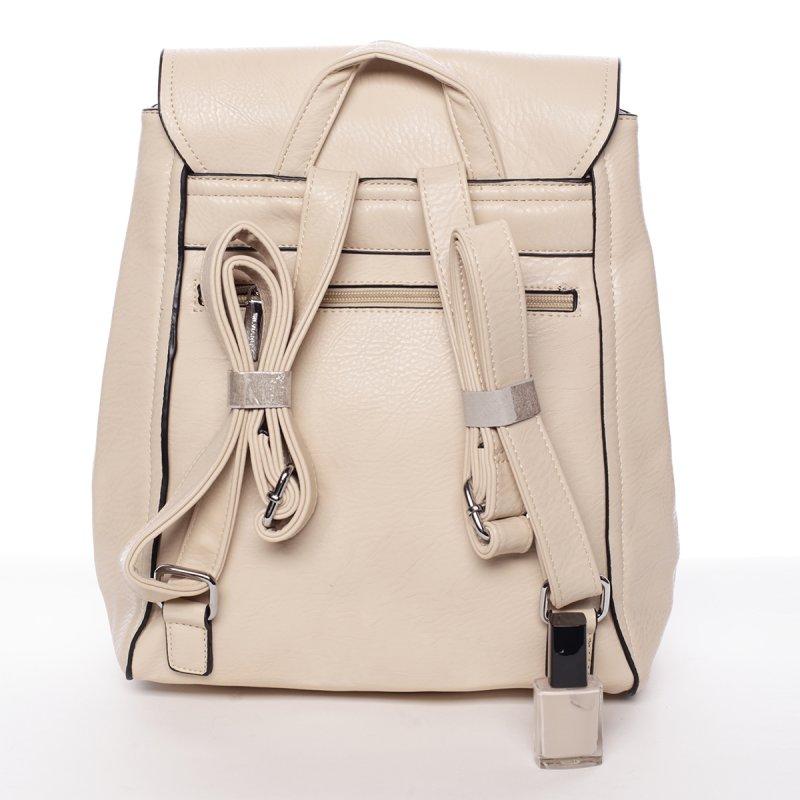Béžový elegantní dámský batoh Valerie