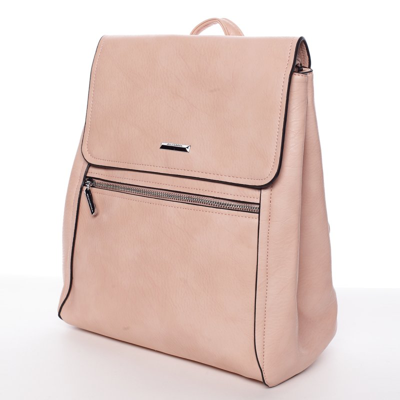 Růžový elegantní dámský batoh Valerie