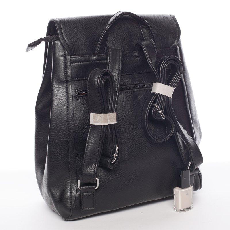 Černý elegantní dámský batoh Valerie