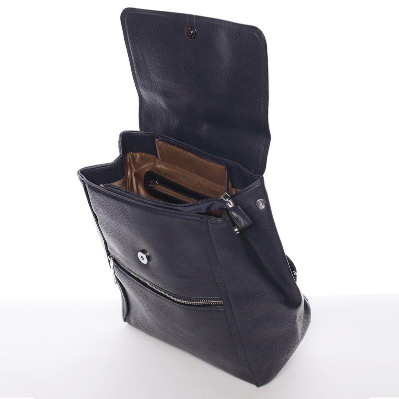Modrý elegantní dámský batoh Valerie