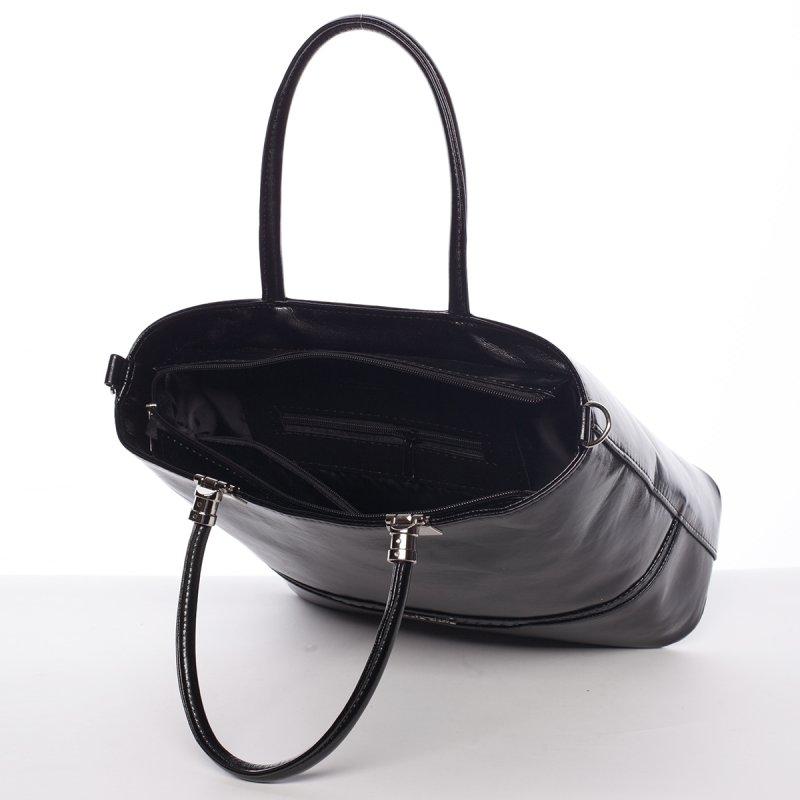 Černá pevná dámská kabelka Charlie