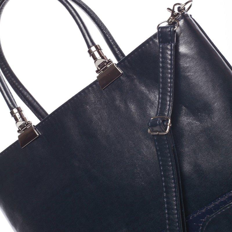 Modrá pevná dámská kabelka Charlie
