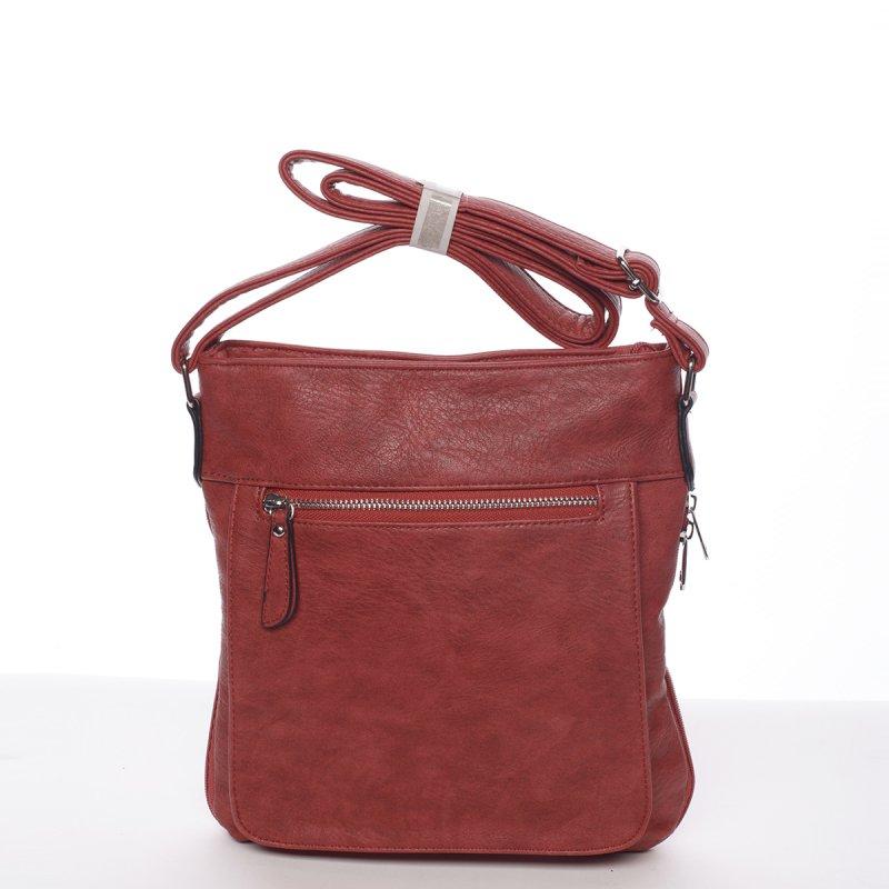 Moderní dámská crossbody kabelka Dafne, červená