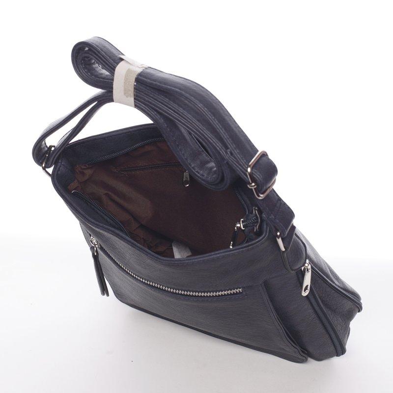 Moderní dámská crossbody kabelka Dafne, modrá