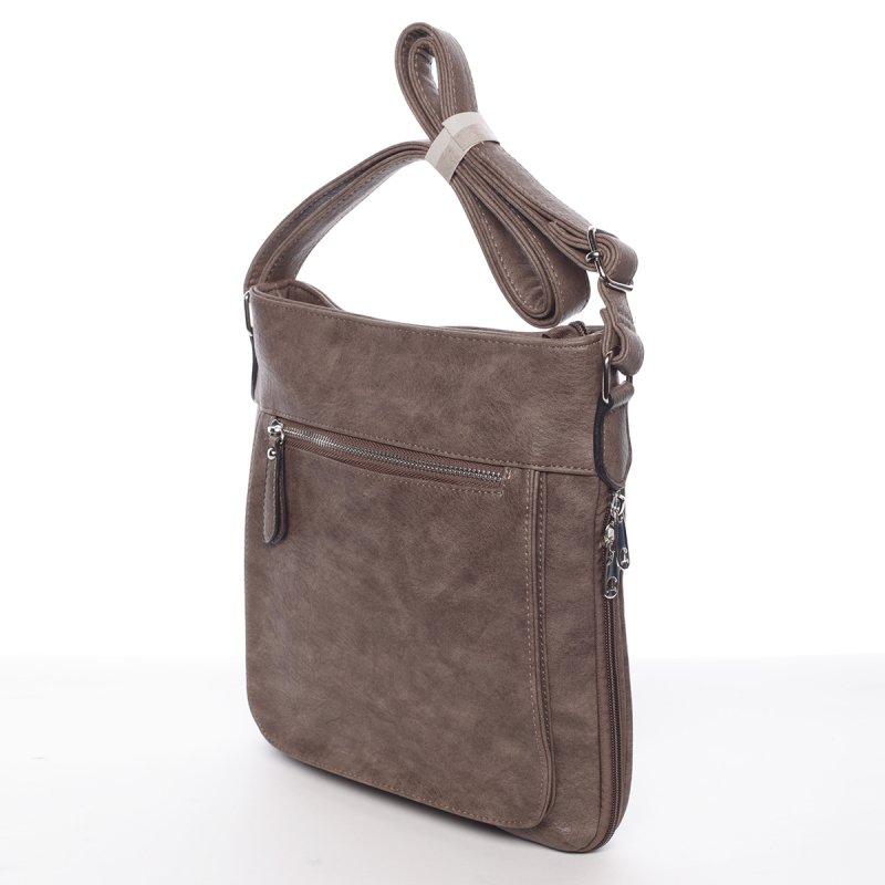 Moderní dámská crossbody kabelka Dafne, hnědá/šedá