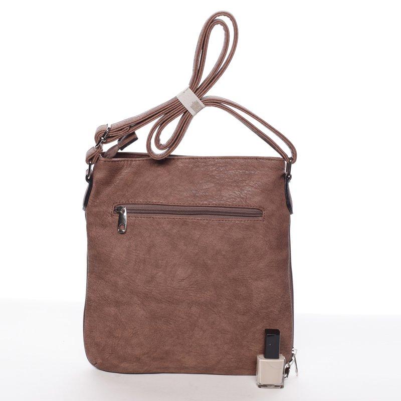 Moderní dámská crossbody kabelka Dafne, růžová