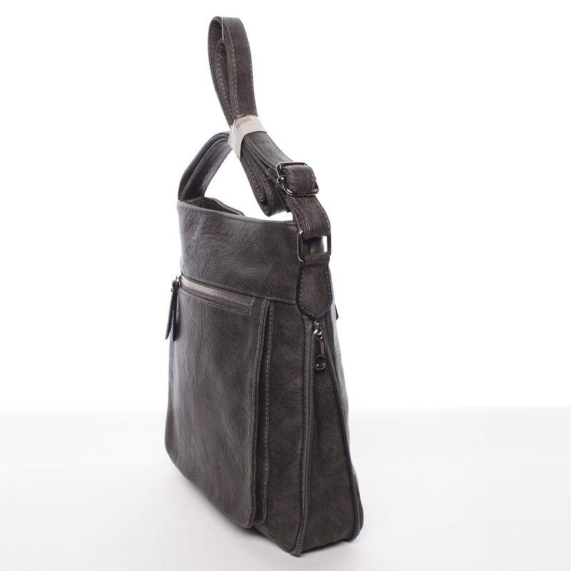 Moderní dámská crossbody kabelka Dafne, šedá