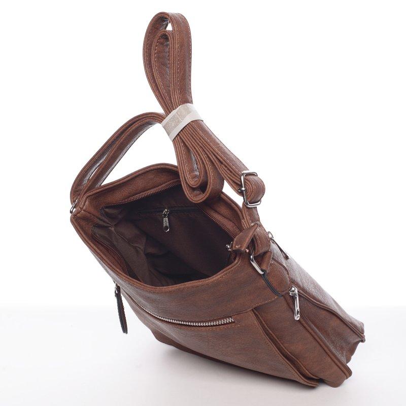 Moderní dámská crossbody kabelka Dafne, hnědá